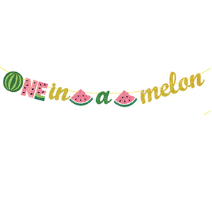 Image 4 - Leeiu Fruit Theme Watermelon Party Decoration Birthday Banners Watermelon Cake Toppers Baby Shower 1st Birthday Party Supplies
