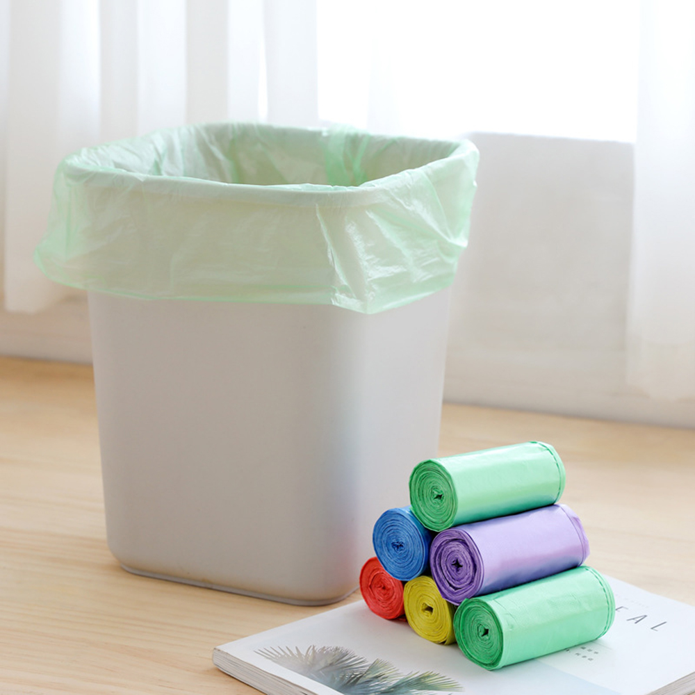 1 Roll Garbage Bags Single Color Thick Convenient Environmental Cleaning Waste Bag Plastic Trash Bags Small Garbage Bag Trash