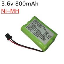 1 шт., Аккумуляторный аккумулятор 3 * AAA Ni-MH 3,6 В 800 мАч для Uniden, BT-909, BT909