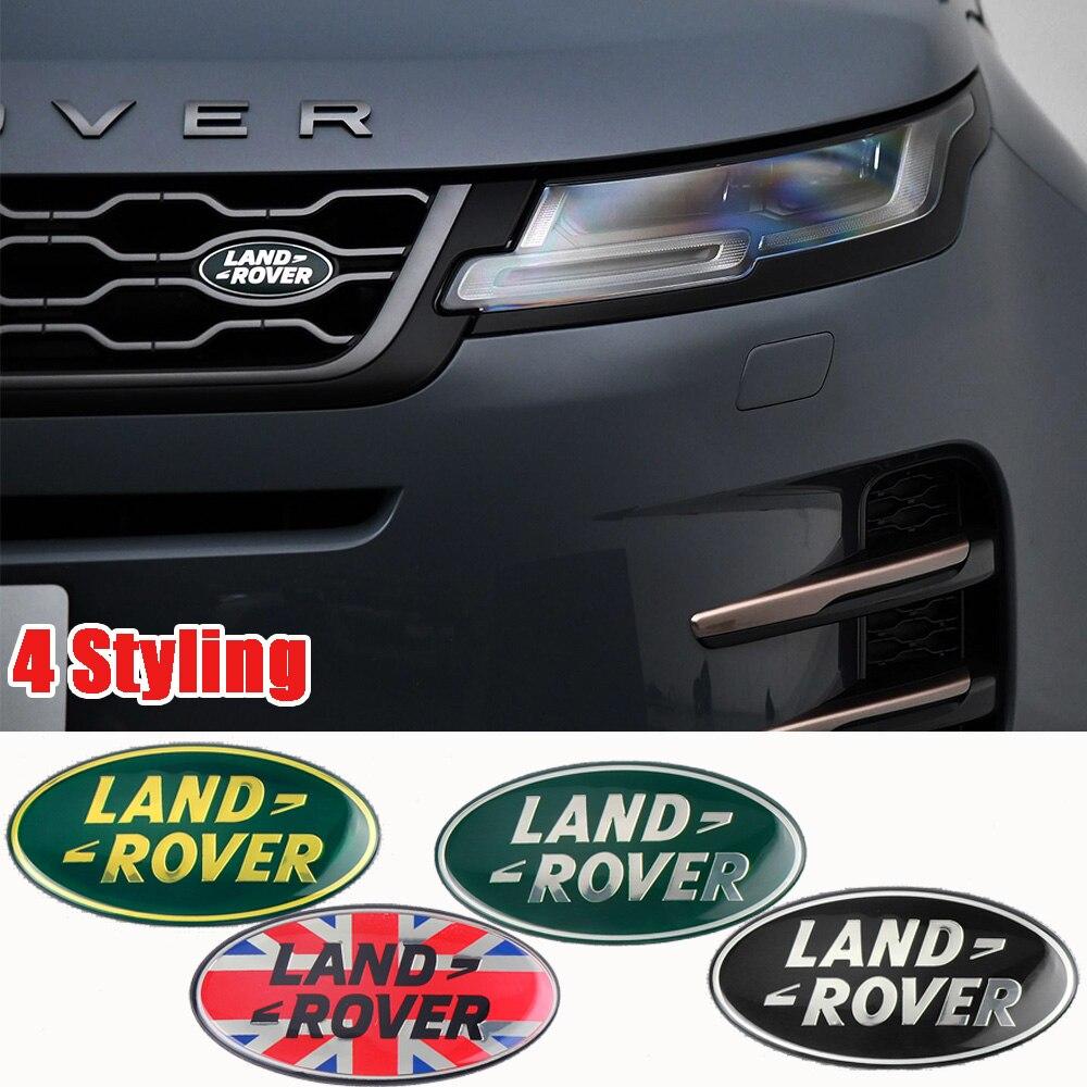 85x43mm elipse metal adesivo estilo do carro grille logotipo emblema tronco adesivo para land rover range rover discovery 4 freelander