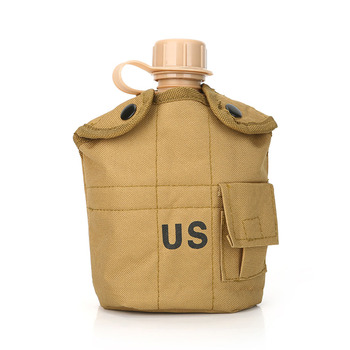 CNDRAGON Brand Large Capacity 1000ml Kettle sport Outdoor travel Bottle Portable Folding water bottle military camouflage bag 4