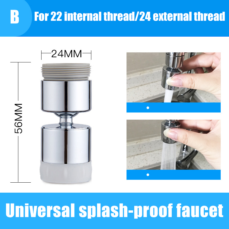 H2686eec305f247568aa906a572ce51fcA 360°/ 720°Rotatable Faucet Sprinkler Splash-Proof Faucet Shower Water-Saving Pressurized Faucet Kitchen Accessories для кухни