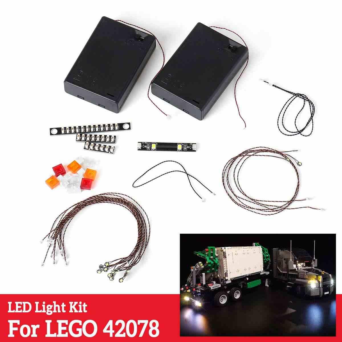 LED Light String Installing Kit For Lego 42078 Technic Series for Mack Anthem Truck Set Tool(NOT Included The Model) DIY