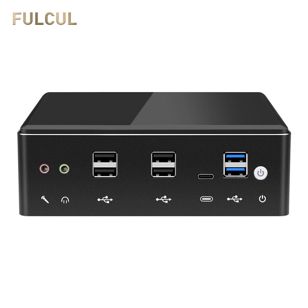 Mini PC Intel Core I7 10510U 8650U 8550U I5 2*RS232 HDMI VGA 4*USB 2*LAN Type-C WiFi Bluetooth Linux Industrial Computer Minipc