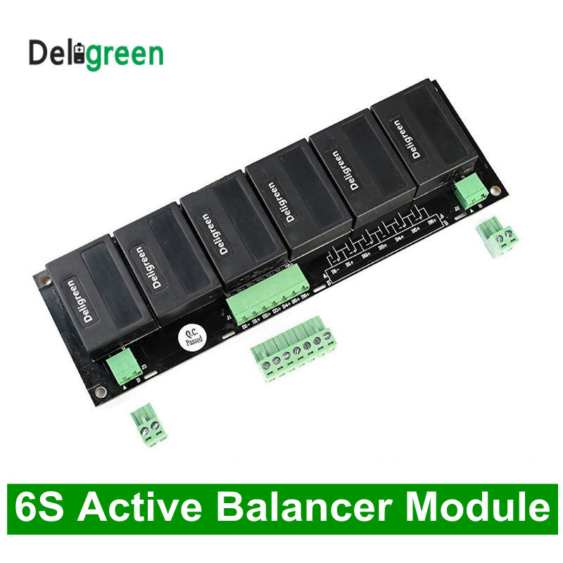 QNBBM LTO 6S Active Battery Balancer Equalizer BMS for LiFePO4,LiPO,NCM,Lithium Li-ion 18650 DIY Battery Pack battery balancer image