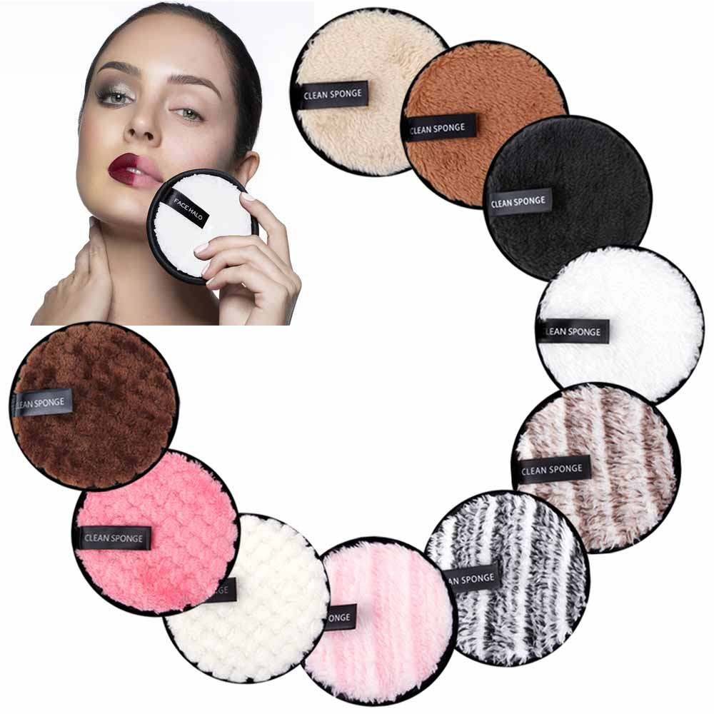 Makeup Remover Puff Reusable Make-up Pads Washable Cleansing Cotton Microfiber Cloth Pad Skin Care Nail Art Cleaning Wipe Tools