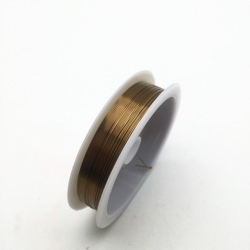 Четырехслойный разноцветный комбинезон серебро Медный провод для браслет Цепочки и ожерелья самодельные Украшения, Аксессуары 0,2/0,25/0,3/0,5/0,6/1,0 мм ремесло Бисер провода HK018 - Цвет: Antique bronze color