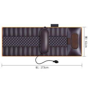 Image 5 - Işlevli elektrikli masaj yatağı titreşim sıcak kompres servikal tam vücut masajı yastık elektrik ısıtmalı battaniye