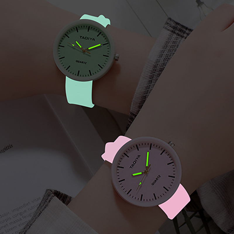 2019 Creative Luminous Ladies Watch Trendy Front Line Luminous Silicone Wristband Cool Watch With Time Men And Women Watch Clock