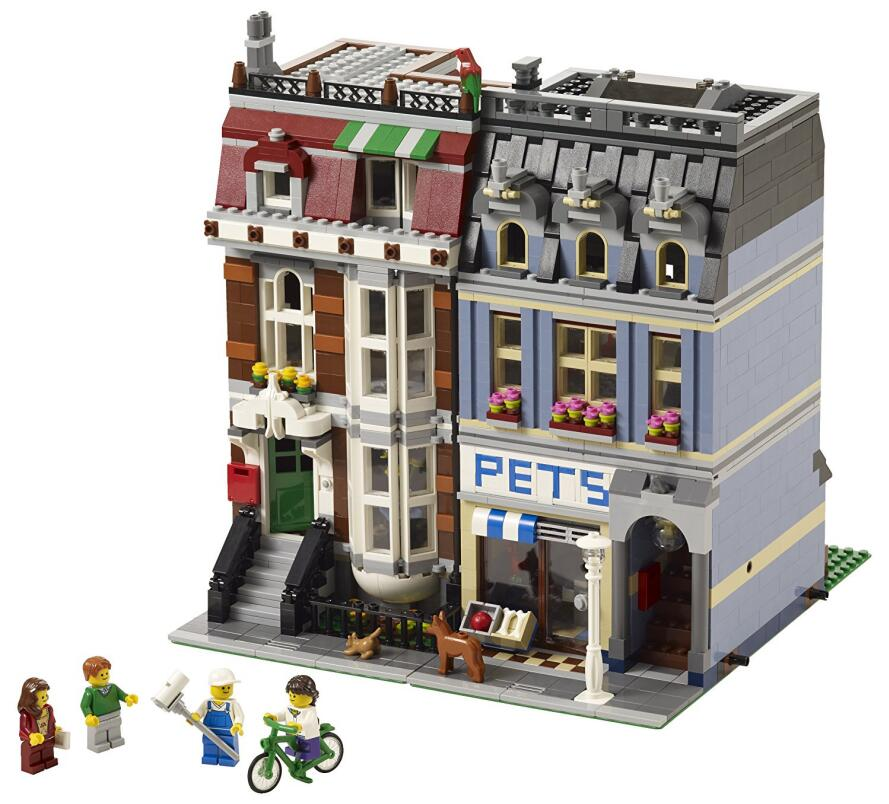 Movie Series Creator City Street View Pet Shop Set 15009 Model Building Blocks Bricks Kids Toys For Compatible With Legoed 10218