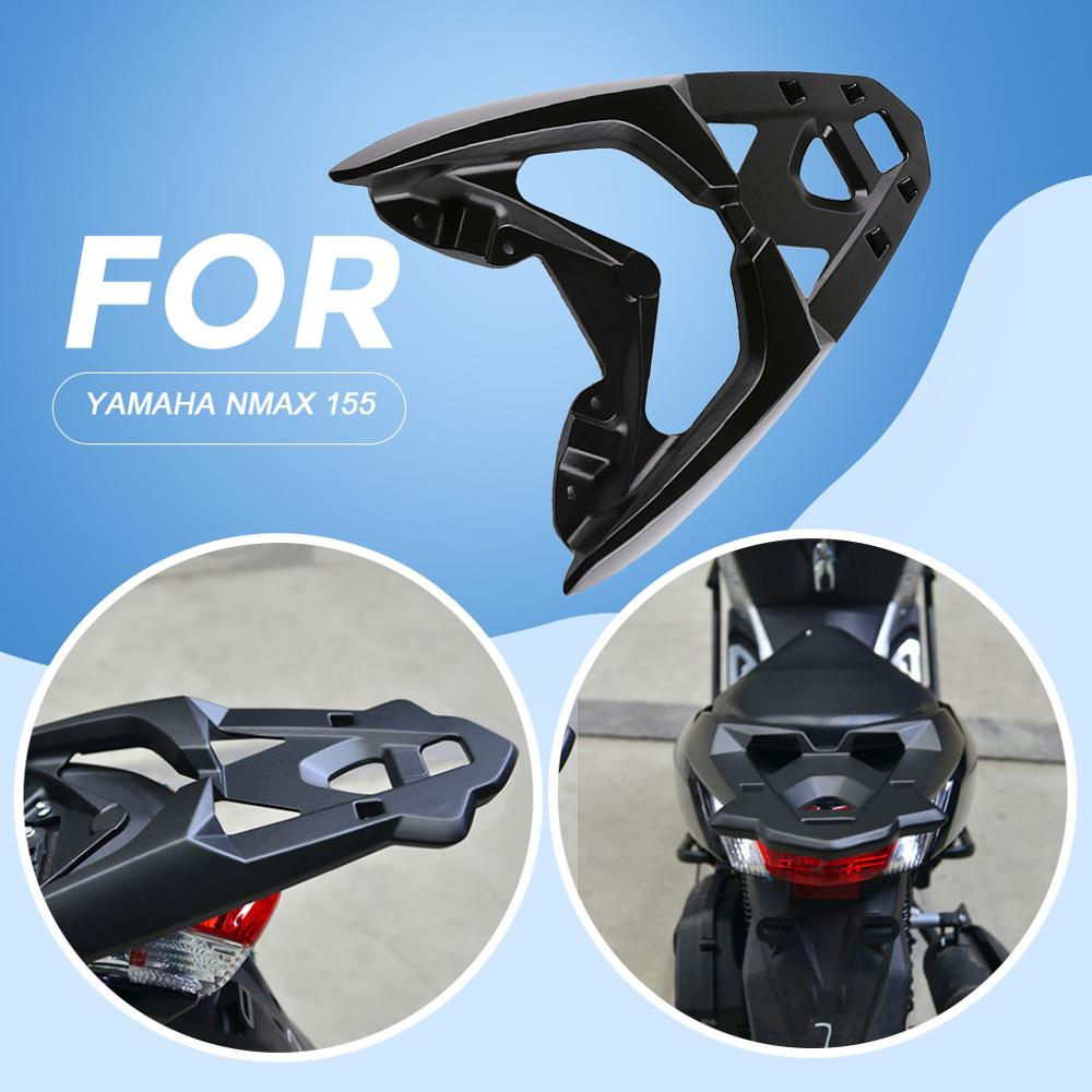 1 Pcs Motorcycle CNC Rear Luggage Bracket Board Tail Rack Top Box Case For Yamaha Nmax155 Nmax 155 125 2016 2019 Aluminum Alloy in Covers Ornamental Mouldings from Automobiles Motorcycles