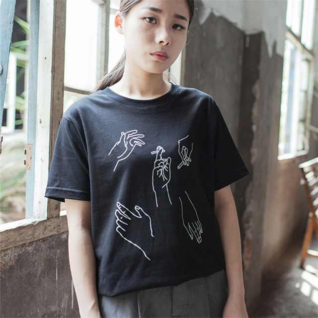 2017 جديد أزياء تي شيرت المرأة الصبي وداعا الطباعة إلكتروني ر قميص المرأة قمم عارضة العلامة التجارية المحملة قميص فام امرأة الملابس
