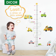 DICOR Cartoon Height Measure Wall Sticker for Kids Rooms Growth Chart Nursery Room Decor Kids Room Stickers Wall Decor Sticker