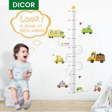 DICOR pegatina de pared de medición de altura de dibujos animados para habitaciones de niños tabla de crecimiento decoración para dormitorio infantil pegatinas de habitación pegatina decorativa de pared