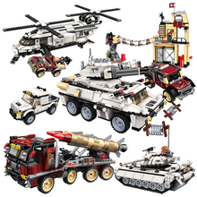 NEW Legoes Military Brick Education Building Blocks Stacking Toy War Tank Panzer Chinook Helicopter Car Vehicle Weapon UN Force
