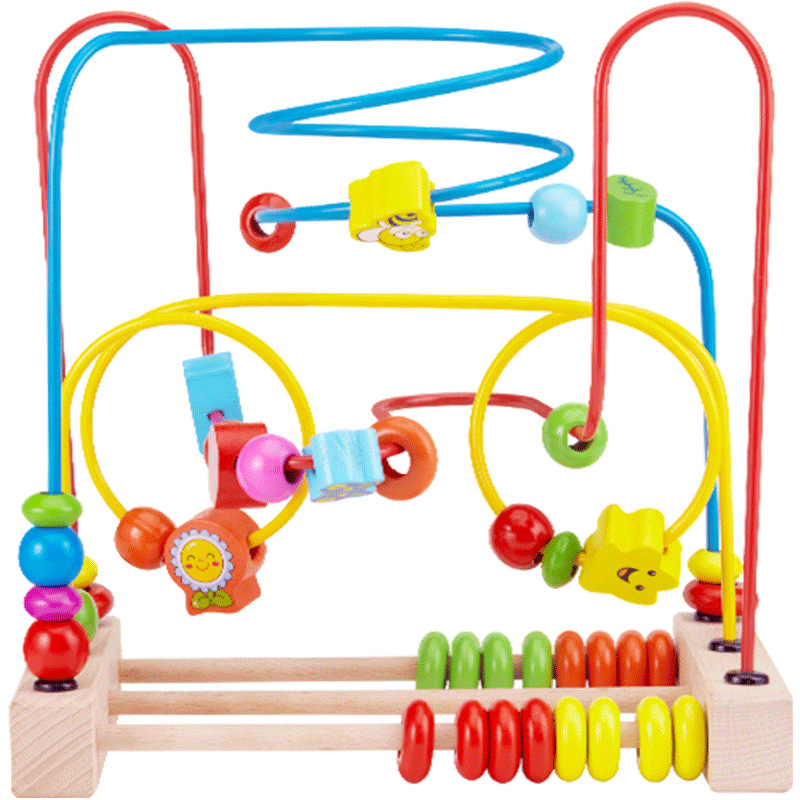 One-Year-Old Bead-stringing Toy GIRL'S Infants Park Early Education Children Baby 2-3-Year-Old Men's Educational Toy Unisex Have