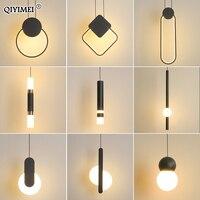 Moderne LED Anhänger Lichter Weiß/Schwarz hängen Lampen Für Bar Restaurant Schlafzimmer Nacht Wohnzimmer Minimalistischen Leuchten