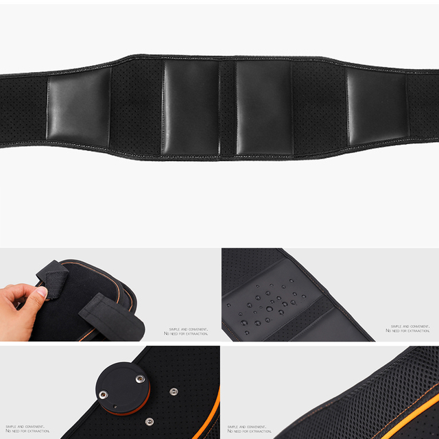 Vibration Sweat Fitness Belt Rechargeable Body Shaper Supportive USB Electronic Stimulator Weight Loss Slimming Body 1