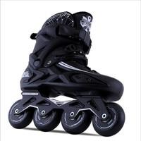 Inline Speed Skates Shoes Hockey Roller Skate Sneakers Women Men Roller Skates For Adults Inline Skating 4 Wheels Flighted