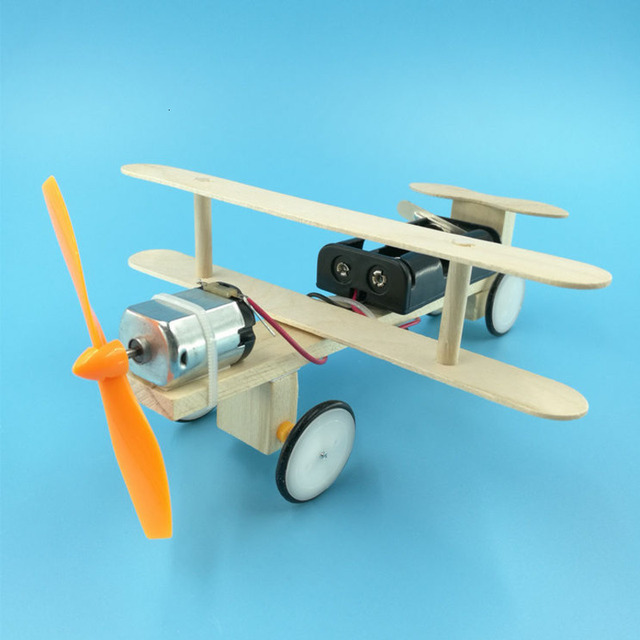 DIY-Electric-Power-Airplane-Wooden-Model-Kit-Bricks-Set-Technology-Physical-Science-Experiments-Educational-Toys-For