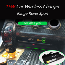 15W QI car wireless charger mobile phone fast charging panel phone holder for Range Rover sport 2017  Sport Edition for glc wireless charger 15w power c class charger mobile phone fast charging adaptor2015 2019 c63 c180 c200 w205 car qi charger