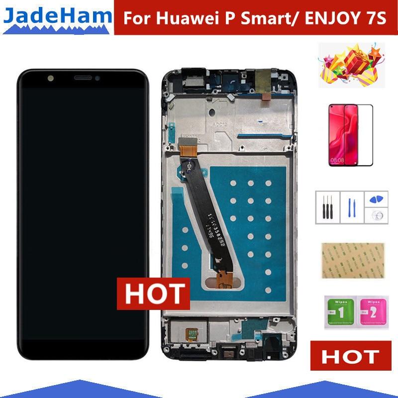 ЖК-дисплей с сенсорным экраном и дигитайзером в сборе для Huawei P Smart, ЖК-дисплей с рамкой FIG LX1 L21 L22, сменный экран