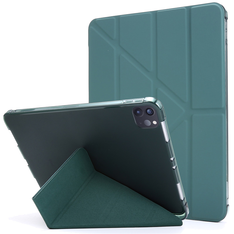 dark green Blue Funda For iPad Pro 11 2020 Case with Pencil Holder PU Leather Flip Stand Smart Protective