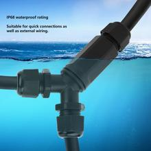 IP68 Waterproof Connector Cable Wire Connector 3Pin Connector Outdoor for LED Light 3-Way Y-Type Connectors