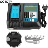 14.4 18V Battery Charger Display Screen Charging Adapter for Makita BL1415 1420|Chargers| |  -