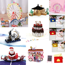 Greeting-Card Birthday-Invitation Pop-Up Christmas-Envelope Valentine Ice Moon 3D 38-Styles