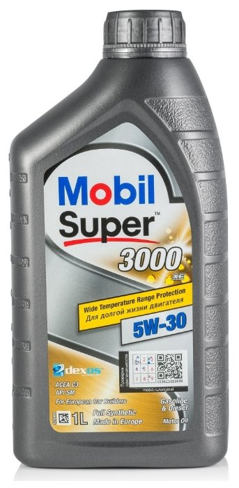 Масло моторное Mobil Super 3000 XE 5W30 синтетическое 1 л 152574