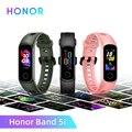 Глобальная версия умного браслета Honor Band 5i, спортивный фитнес-трекер AMOLED для Honor, водонепроницаемый браслет с монитором сердечного ритма и с...