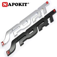 Металлический 3D хромированный серебристый/черный Автомобильный багажник гоночный Спорт слово логотип эмблема значок наклейка