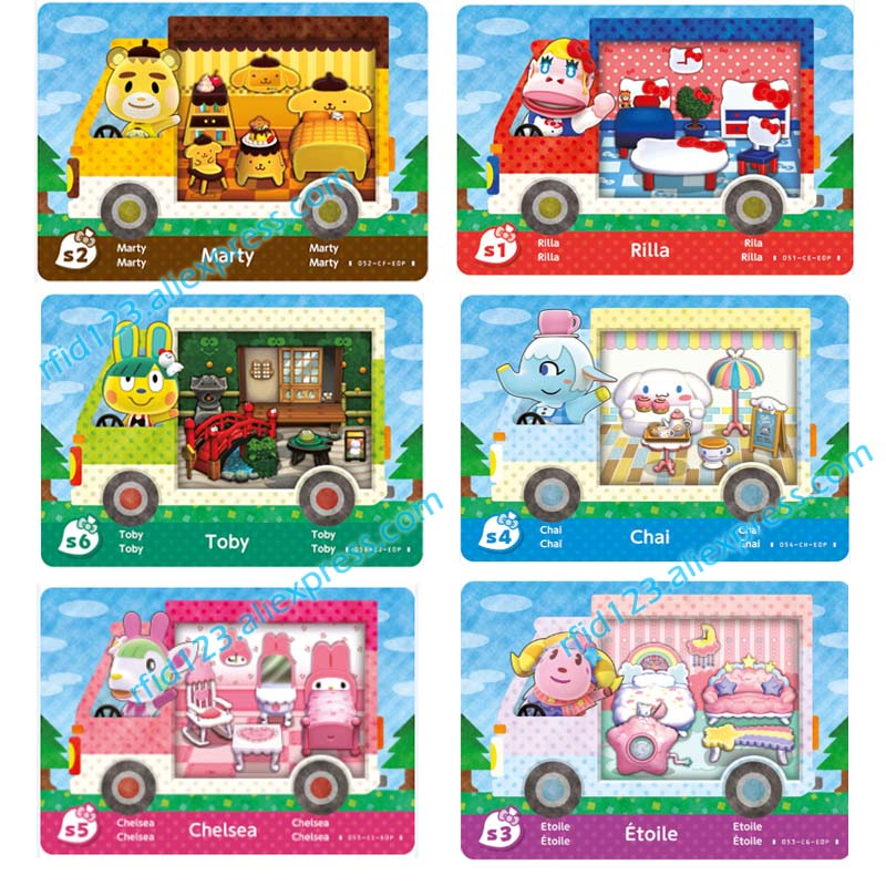 Animal Crossing Card Amiibo NFC Ntag215 For Animal Crossing Sanrio X Whole Set-6pcs/lot