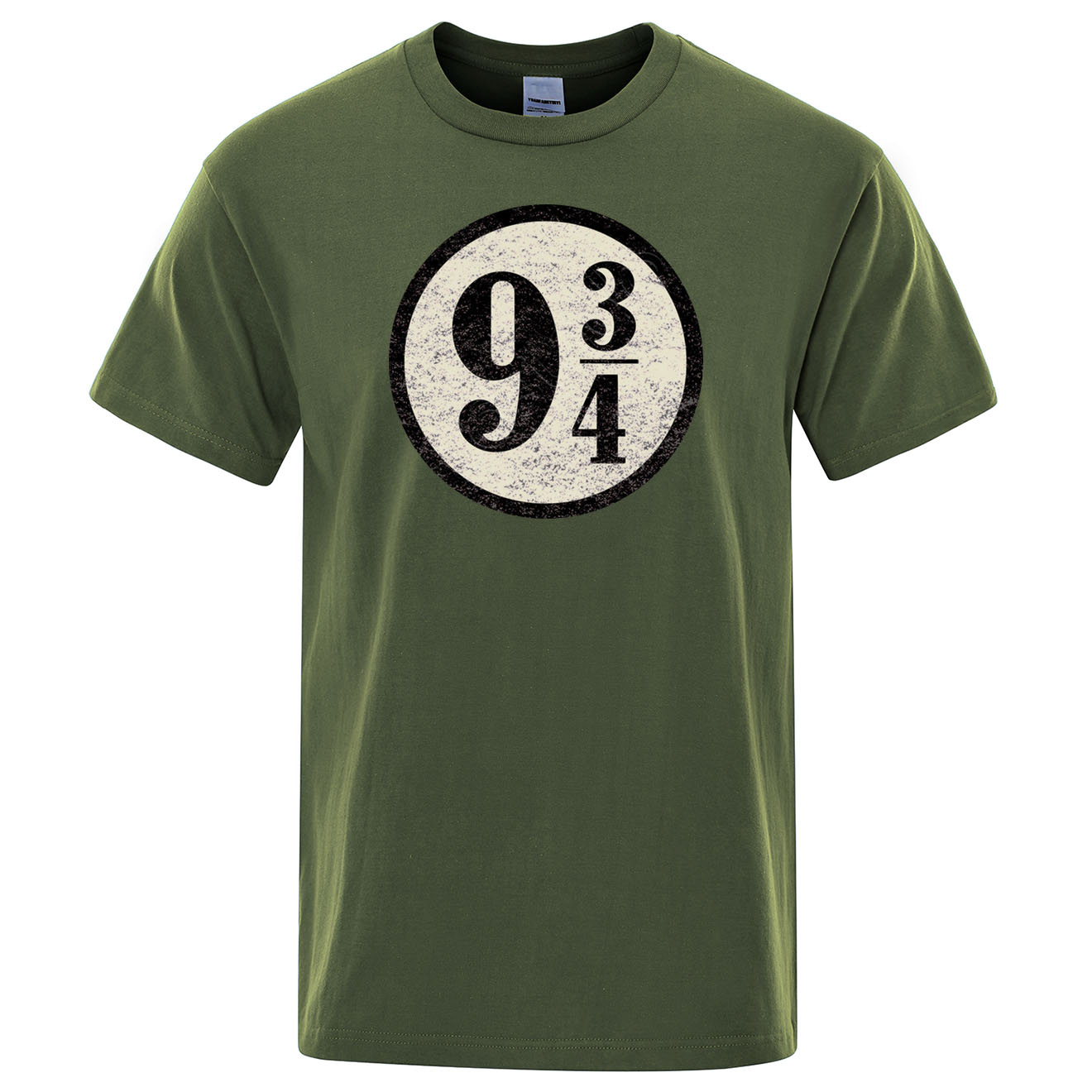 Vintage Platform nine and three quarters T Shirt Men Train to Hogwarts 934 T-shirt Casual Top Short Sleeves Tshirt O-Neck Shirts image
