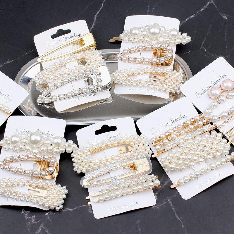 1 Set Women Girls Fashion Hairpins Elegant Geometric Hair Clip Barrette Woman Hair Accessories Hairgrip Hair Ornaments Headwear