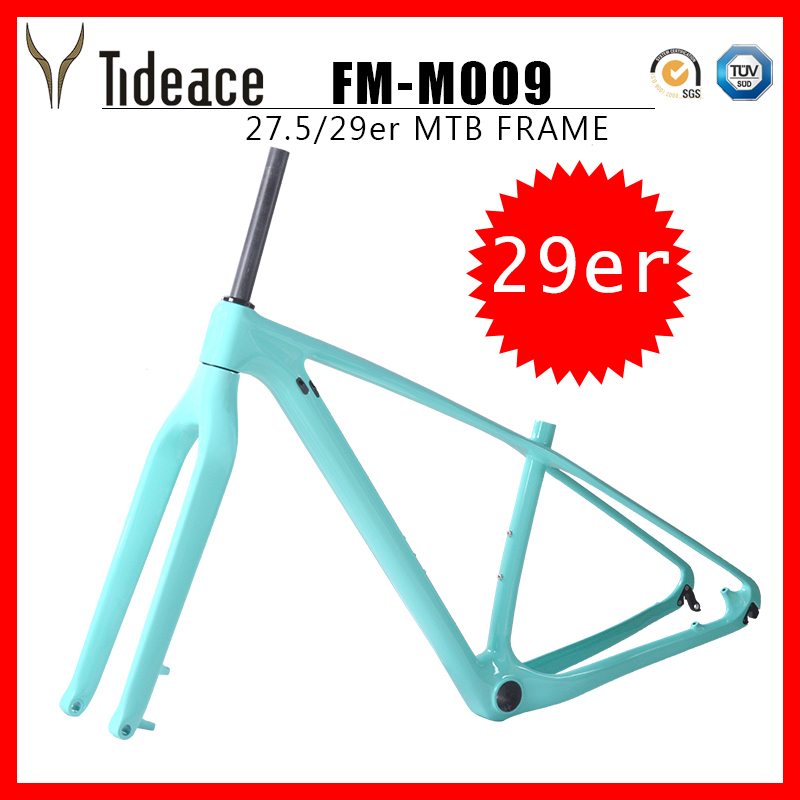 29er Mountain <font><b>bike</b></font> frame set with fork <font><b>OEM</b></font> Rigid disc Carbon MTB Frameset with fork together on sale frame Color customization image
