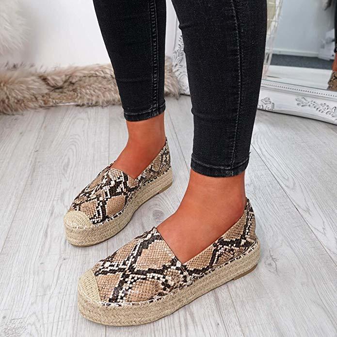 2020 Women's Platform Espadrilles Flock Shoes Slippers Womens Casual Shoes Breathable Flax Hemp Canvas Shoes