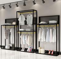 Dress shop for women's clothing simple high and low shelf window shoe bag platform floor rack