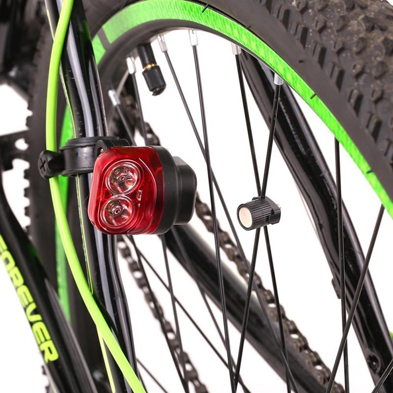 Магнитная индукция для верховой езды Предупреждение горный велосипед светильник велосипедный задний передние задние колеса светильник с ...