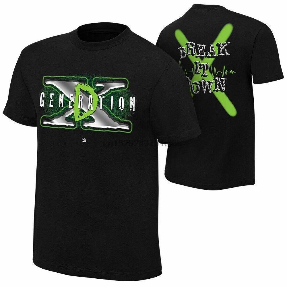 Dx d geração x quebrá-lo t-camisa dos homens wrestter wrestlemania t novo