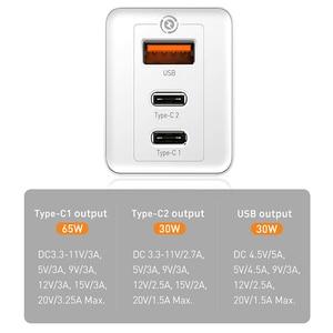 Image 4 - Baseus 65W GaN USB Schnelle Ladegerät Schnell Ladung 3,0 Für iPhone 12 PD 3,0 UNS Stecker Unterstützung FCP AFC SCP QC 3,0 Für Samsung S10 Xiaomi