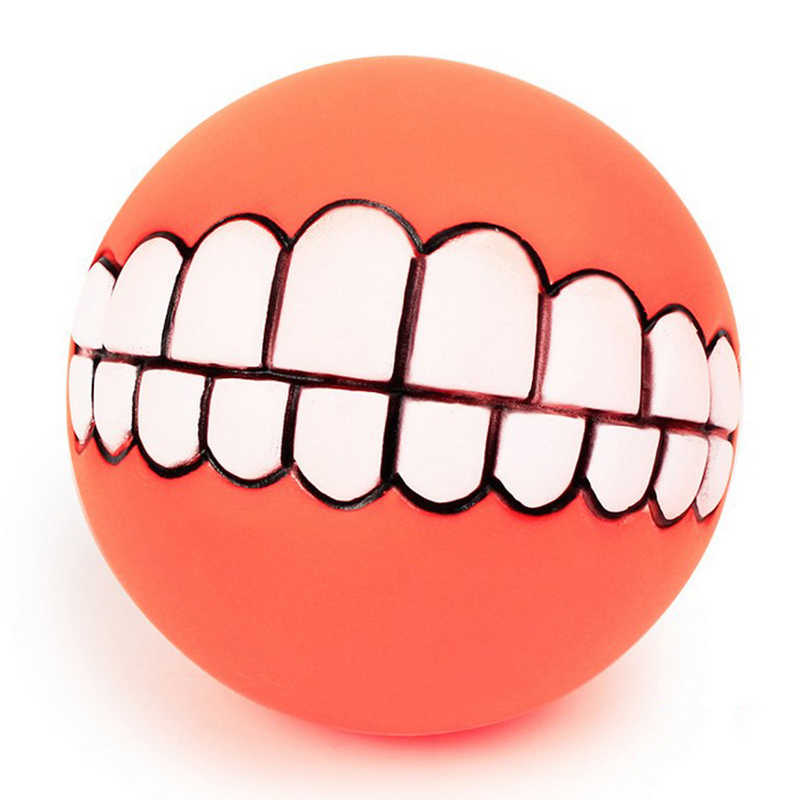 מצחיק חיות מחמד כלב חתול אינטראקטיבי כדור בקיעת שיניים לנשוך צעצוע גור ללעוס כדור לשחק משחק מקסים חריקת קול צעצועים לחיות מחמד מתנה ספקי
