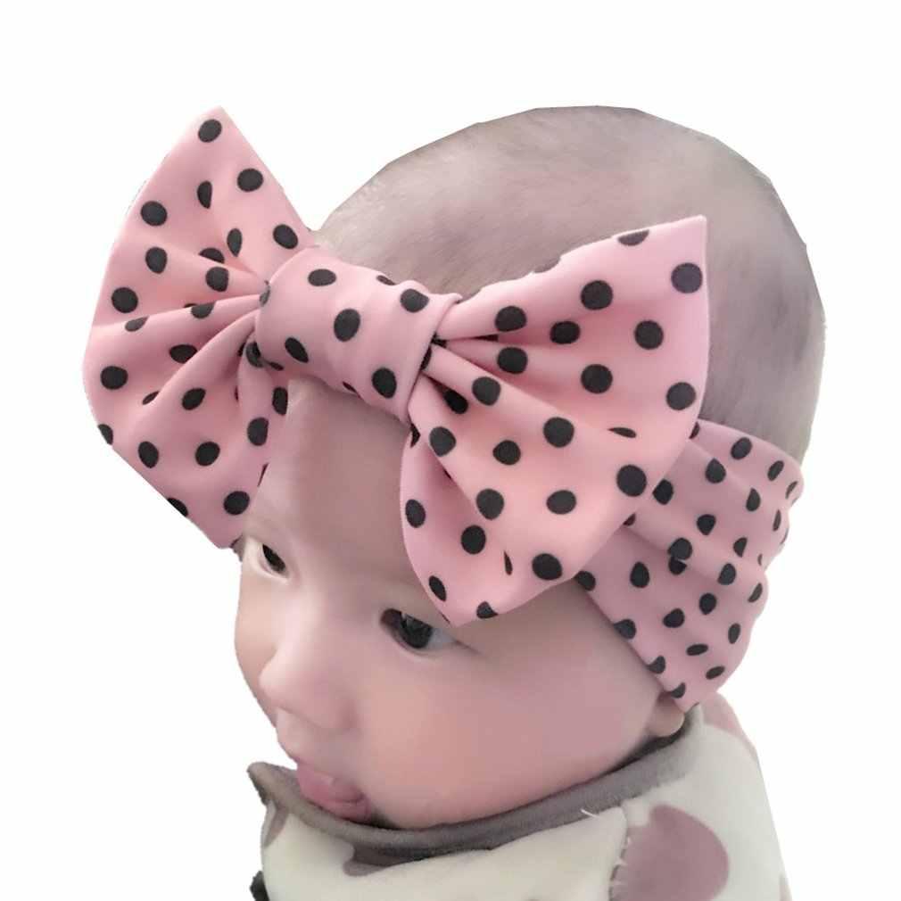X-18013 yeni bebek örgü tığ üst düğüm Elasticturban kafa bebek kafa Wrap saç bantları kulakları sıcak bebek kafa bandı aksesuarları