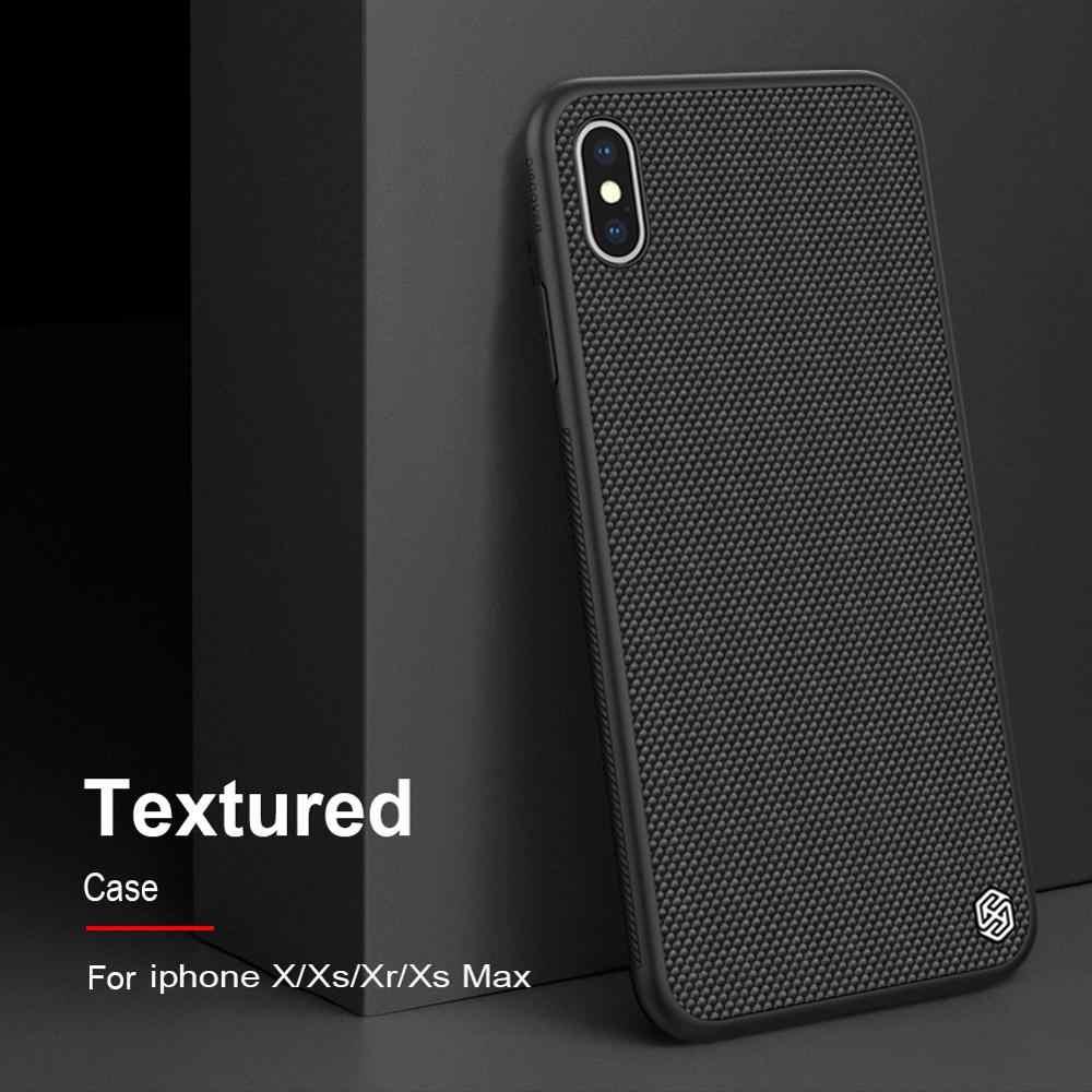 Para o iphone 11 caso nillkin texturizado caso de fibra de náilon durável antiderrapante fino & leve capa traseira para iphone x/xs/xr/xs max/11 pro