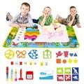 Динозавр тематический водный коврик для рисования, ручки и штамп, детская доска для рисования, детский игровой коврик, коврик для рисования,...
