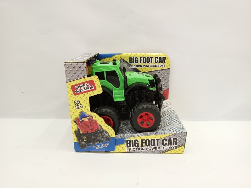 Inertia Four-Wheel Drive Off-road Car Big Foot Off-road Car Car Model Children Model Big Wheel Off-road Stunt Car Toy