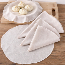 1pc Cotton and Linen Steamer Cloth Non-stick Steamer Pad Breathable Steamed Bun Cloth Tray Cloth Gauze Steamed Cloth недорого