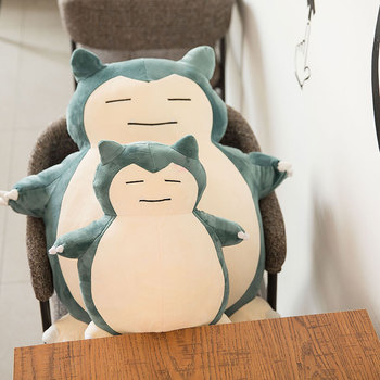 Cute Big Snorlax Anime Plush Toys Lovely Cartoon Japanese Soft Large Pillow Stuffed Animal Doll Gift for Children Dropshipping 55cm cartoon one piece plush toys chopper plush doll stuffed anime cute toy chopper doll best gift for children