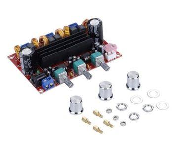Czujnik XH-M139 2 1 kanałowy karta do cyfrowego wzmacniacza mocy 12 v-24 v szerokie napięcie TPA3116D2 2*50W 100W czujnik tanie i dobre opinie